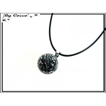 Bola - Clochette des anges - Bola + Cordon - Mélange couleur - Noir / Blanc