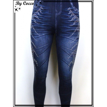 Legging - Aspect Jean - Strass