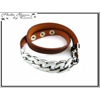 Bracelet Stella Green - Chaîne - Marron