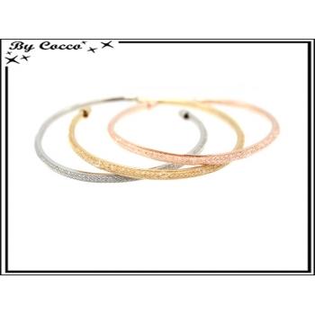Bracelets - Strass - Fin - Rose cuivré / Argent / Doré