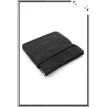 Porte-monnaie - Carré - Homme - Noir x12