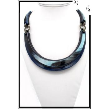 Collier – Résine – Bleu