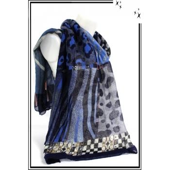 Foulard - Safari - Bleu