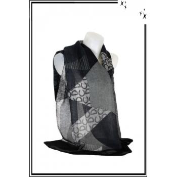 Foulard - DC - Bordure noire
