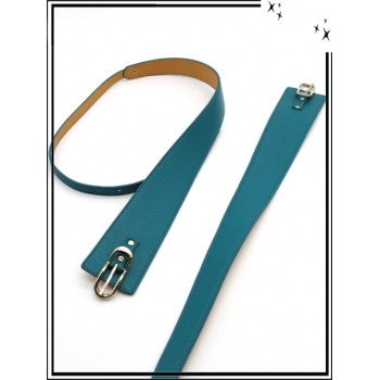 Ceinture - Asymétrique - Bleu vert