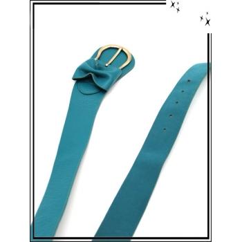 Ceinture - Noeud - Bleu vert