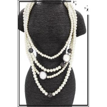 Sautoir - Muti-rangs - Perles nacrés
