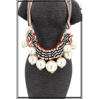 Collier - Grosses perles nacrées