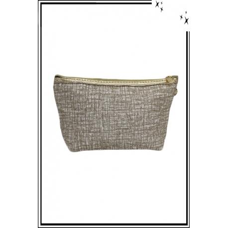 Trousse de sac à main - Paillettes - Quadrillé - Doré