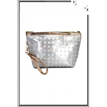 Trousse de sac à main - Pois argent avec reflets - Argent