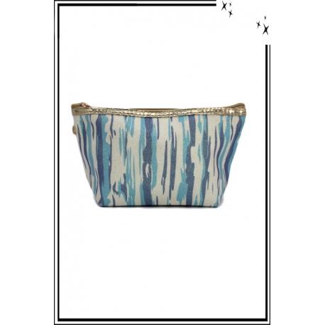 Trousse de sac à main - Paillettes - Zébrée - Bleu