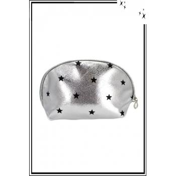 Trousse de sac à main - Argent - Etoiles noires