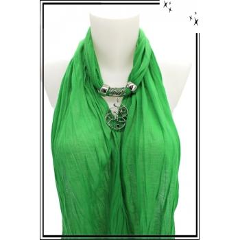 Foulard-bijoux - Vert - Forme diverse