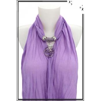 Foulard-bijoux - Parme - Forme diverse + Bijoux doré offert