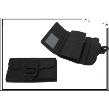 Portefeuille - Multi-compartiments - Boucle de ceinture - Noir