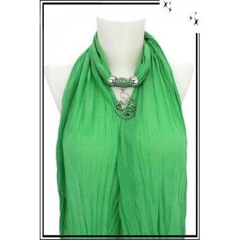 Foulard-bijoux - Vert clair - Forme diverse + BIJOUX DORÉ OFFERT