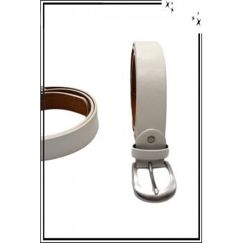 Ceinture - Aspect cuir - Uni - Blanc