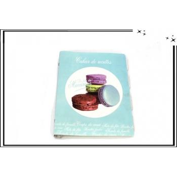 Cahier de recettes - Macarons - Bleu ciel