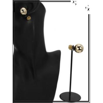 Boucle d'oreille - Façon piercing  - Doré