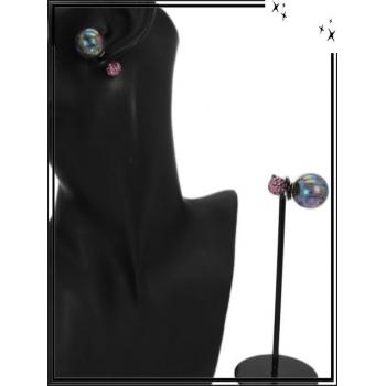 Boucle d'oreille - Façon piercing  - Violet