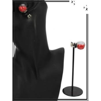 Boucle d'oreille - Façon piercing  - Rouge