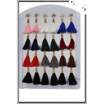 Boucle d'oreille - Pampilles - Brillant - Multicolore