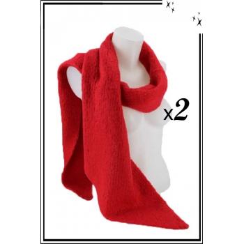 Echarpe molletonnée - Rouge - x2