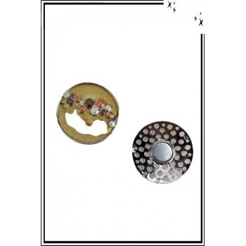 Broche aimantée - Forme ronde ouverte