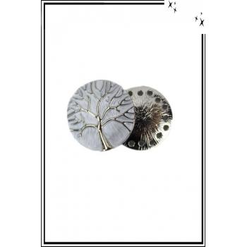 Broche aimantée - Arbre - Gris clair