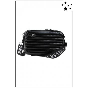 Petit sac bandoulière - Mini valise rigide - Noir