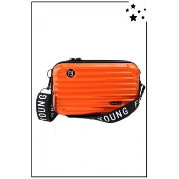 Petit sac bandoulière - Mini valise rigide - Orange