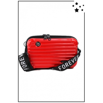 Petit sac bandoulière - Mini valise rigide - Rouge