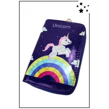 """Porte-monnaie - Petit modèle - Licorne - """"Unicorn"""""""