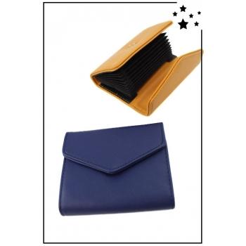 Porte cartes de visite - Bleu marine