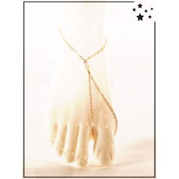 Bracelet de cheville - Perle - Doré