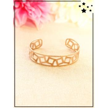 Bracelet - Motif carré - Cuivré