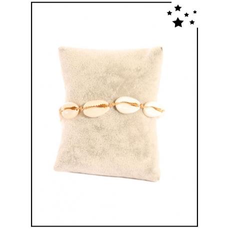 Bracelet - Coquillages - Camel
