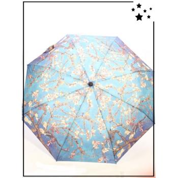 Parapluie pliable - Inspiration japonaise - Bleu
