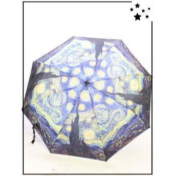 Parapluie pliable - Van Gogh - Toile de maître - Bleu
