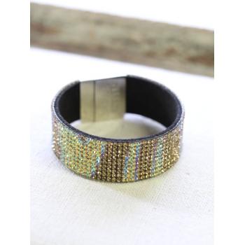 Bracelet strass - Irisé - Doré