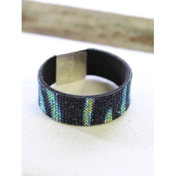 Bracelet strass - Irisé - Noir