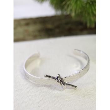 Bracelet jonc - Nœoeud - Argenté