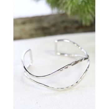Bracelet jonc - Ouvert - Argenté