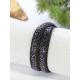 Bracelet double tour - Strass - Irisé et noir