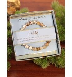 Bracelet vertus - Pierres naturelles - Agate de feu beige