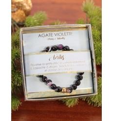 Bracelet vertus - Pierres naturelles - Agate violette