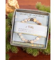 Bracelet vertus - Pierres naturelles - Quartz de jade beige