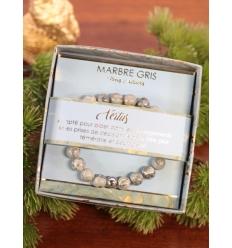 Bracelet vertus - Pierres naturelles - Marbre gris