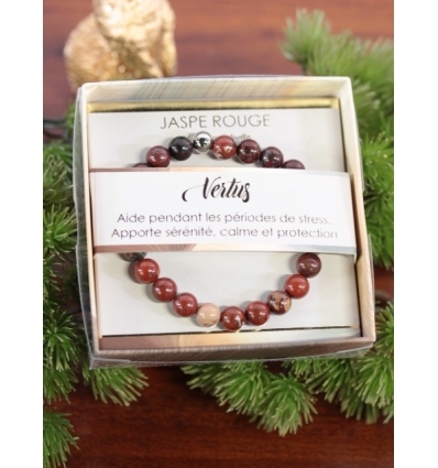 Bracelet vertus - Pierres naturelles - Jaspe rouge