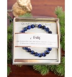 Bracelet vertus - Pierres naturelles - Quartz de jade bleu